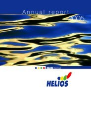 Important business achievements in 2005 - Helios Group