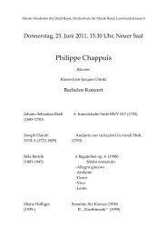 Philippe Chappuis - Musik-Akademie Basel