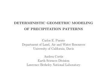 5p - Carlos E. Puente - University of California, Davis