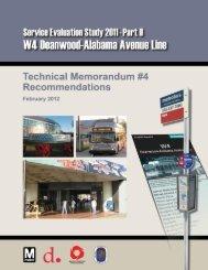 W4 Recommendations - Metrobus Studies