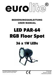 LED PAR-64 RGB Floor Spot - Ljudia