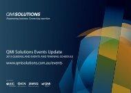 QMI Solutions Events Update