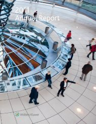 2011 Annual Report ( , 15494 kB) - Wolters Kluwer