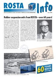Rubber suspension units from ROSTA – over 60 years! - ROSTA Inc.