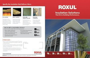 Insulation Solutions That Drive Building Performance ... - Roxul