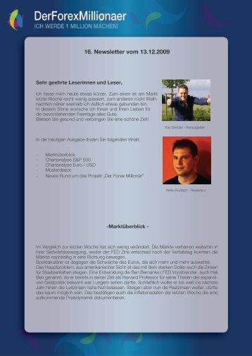 16. Newsletter vom 13.12.2009 - Der Forex Millionaer