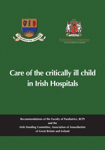 Care of the critically ill child in Irish Hospitals - aagbi