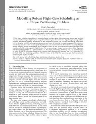 Modelling Robust Flight-Gate Scheduling as a Clique ... - WiWi