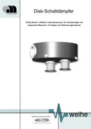 Disk-Schalldämpfer - Serie DCK2 und DHK Einbau - Weihe GmbH