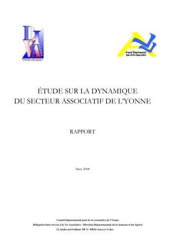 etude sur la dynamique du secteur associatif - Les services de l'État ...
