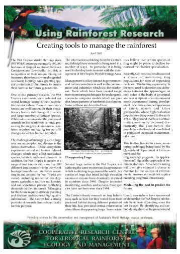 Creating tools to manage the rainforest - Rainforest Cooperative ...