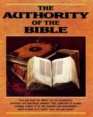 The Authority of the Bible - Church of God Faithful Flock