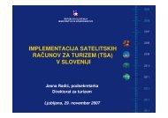 implementacija satelitskih računov za turizem (tsa) v sloveniji
