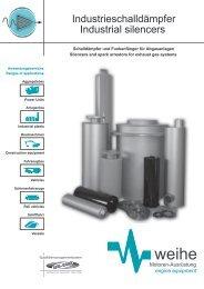 Industrieschalldämpfer Industrial silencers - Weihe GmbH