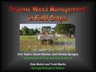 Erin Taylor, Karen Renner, and Christy Sprague Department of Crop ...