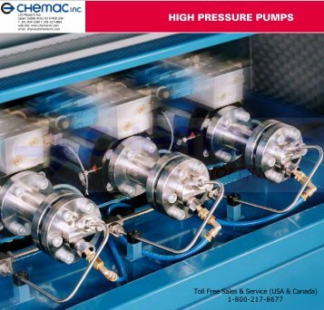 HP Intensifier Pumps - Chemac Inc.