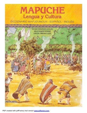 Diccionario Mapuche 1 - Folklore Tradiciones