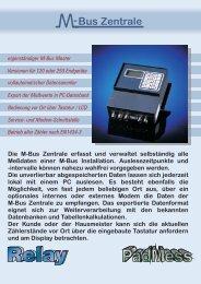 M-Bus Zentrale DR001/002 - Relay GmbH