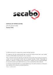 MANUAL DE INSTRUCCIONES para las prensas transfer Secabo ...
