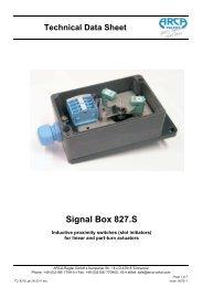 Signal Box 827.S - Arca-Regler GmbH