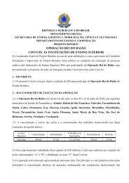 Projeto Rondon - Operação Rei do Baião - Reitoria