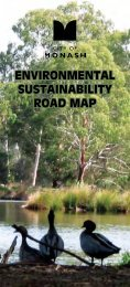 ENVIRONMENTAL SUSTAINABILITY ROAD MAP - City of Monash