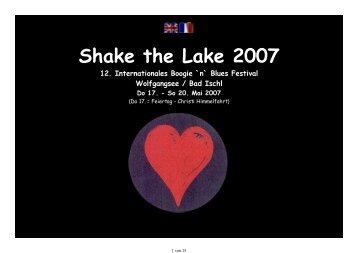 Shake the Lake 2007