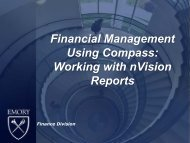 Working with nVision Reports PowerPoint - Emory Finance