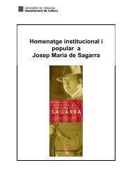 Homenatge institucional i popular a Josep Maria de Sagarra - Premsa
