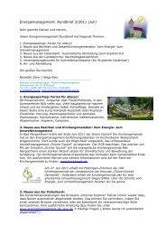 Energiemanagement: Rundbrief 3/2011 (Juli)