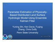 Parameter Estimation of Physically- Based Distributed Land Surface ...