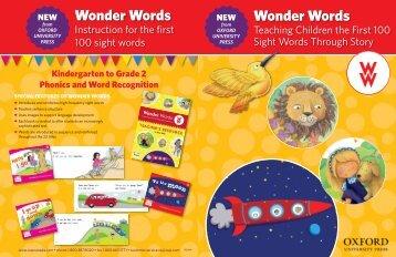 Wonder Words Wonder Words - Oxford University Press