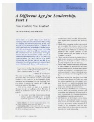A Different Age for Leadership