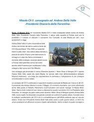 Mazda CX-5 consegnato ad Andrea Della Valle