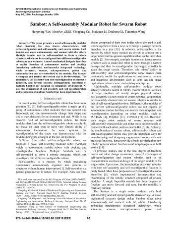 Swarm robotics thesis