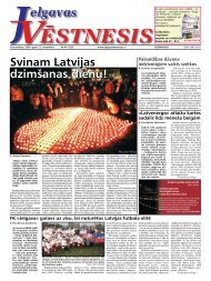 2009. gada 12. novembris. Nr.44(128) - Jelgavas Vēstnesis