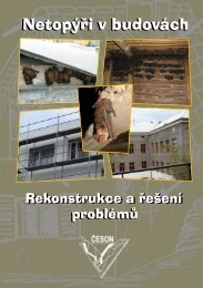 Netopýři v budovách - Česká společnost pro ochranu netopýrů