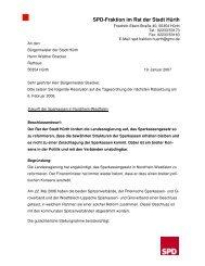 Resolution Erhalt der Sparkassen - SPD Ortsverein Hürth