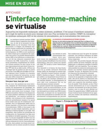 interface homme machine