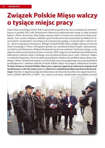 Związek Polskie Mięso walczy o tysiące miejsc pracy