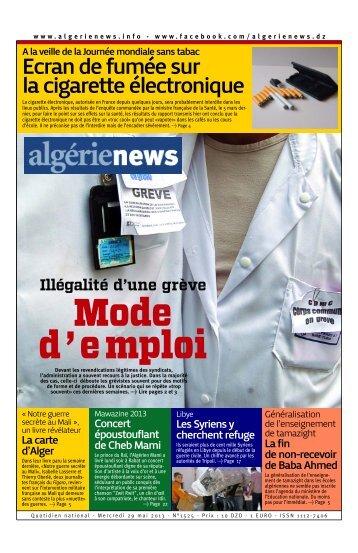 Fr-29-05-2013 - Algérie news quotidien national d'information