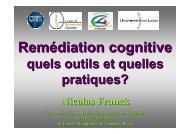 cours de Nicolas Franck sur la Remédiation cognitive - CNRS
