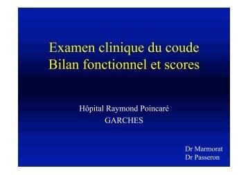 Examen du Coude - ClubOrtho.fr