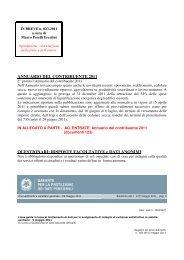 ANNUARIO DEL CONTRIBUENTE 2011 QUESTIONARI: RISPOSTE ...