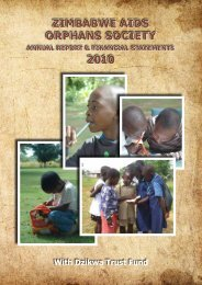 ZIMBABWE AIDS ORPHANS SOCIETY ANNUAL REPORT ...
