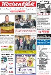 Wochenblatt Ausgabe vom 28.Mai 2013 - 45309 Essen ...