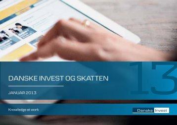 Danske Invest og skatten 2013