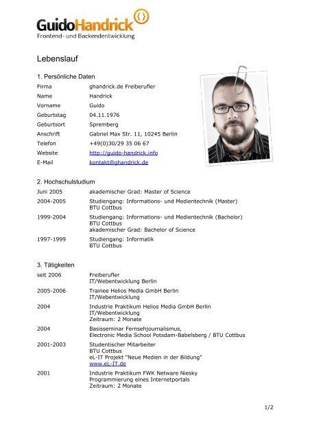 Download Lebenslauf Guido Handrick