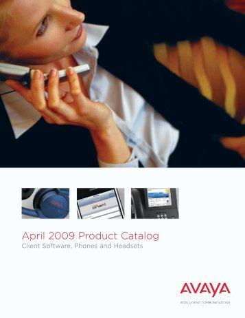 April 2009 Product Catalog