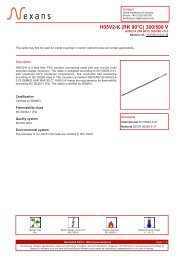 H05V2-K (RK 90°C) 300/500 V - Nexans